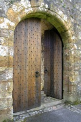 Door at Dollar Castle, Scotland