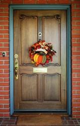 Door of in-laws house