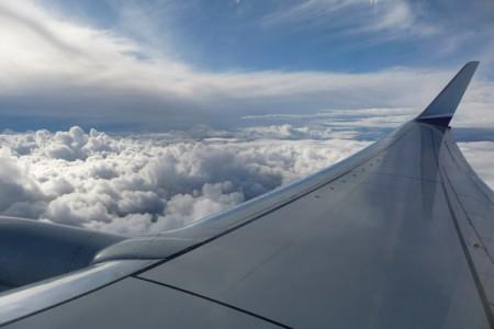 Veiw from airplane window